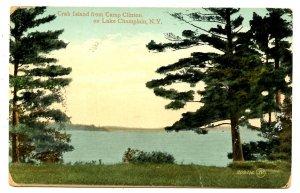 NY - Lake Champlain. Crab Island  from Camp Clinton