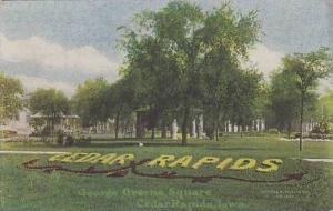 Iowa Cedar Rapids George Greene Square