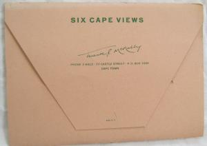 6 Cape Views Capetown South Africa Postcard Folder
