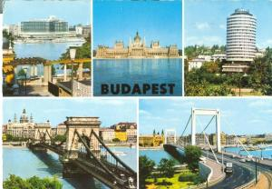 Hungary, Budapest, Multi-view, used Postcard