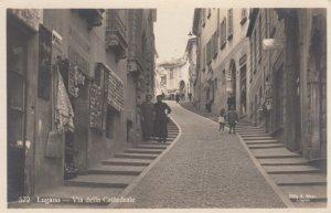 RP  LUGANO, Ticino, Switzerland, 1900-10s ;  Via della Cattedrale , Postcard ...