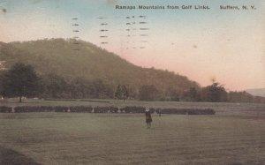 SUFFERN, New York, PU-1920; Ramapo Mountains From Golf Links