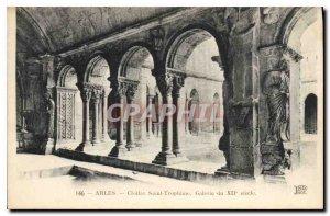 Postcard Ancient Arles Saint Trophime Cloister Gallery XII