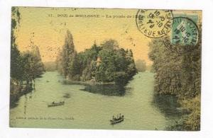Boaters in Park / Bois de Boulogne,Boulange Billancourt,Paris,France 1920 PU