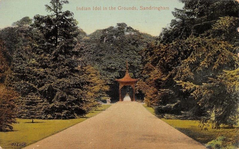 Sandringham Norfolk UK Indian Idol in the Grounds~Postcard