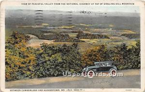 Valley, National Highway Hagerstown MD 1928