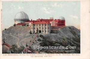 Lick Observatory, Mt, Hamilton