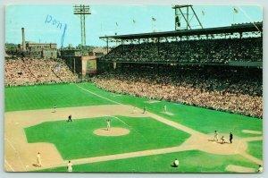 Cincinnati Ohio~Crosley Field~Cincinnati Reds Baseball~Don Sits in Outfield~1962