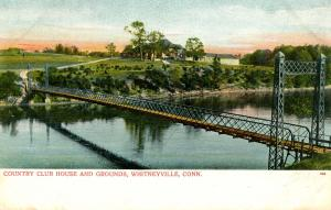 CT - Whitneyville. Country Club House, Bridge, Grounds