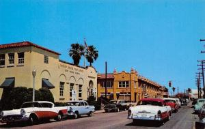 Ft Pierce FL 1956 Ford-Buick-Pontiac Safari Station Wagon~Post Office Roof Trees