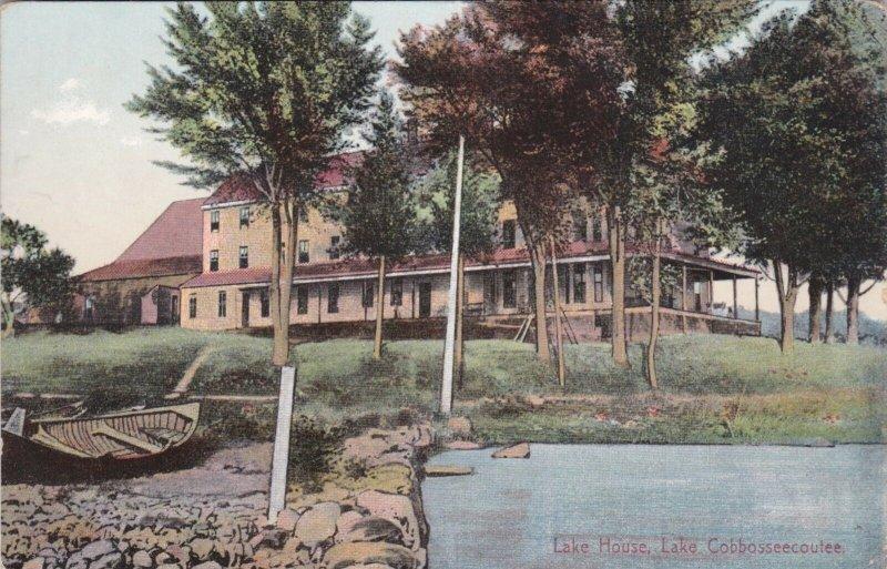 Maine Lake Cobbosseecoutee Lake House 1909 sk0637a