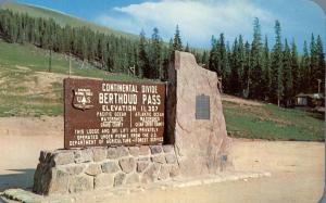 Continental Divide at Berthoud Pass - Highway US 40 - CO Colorado