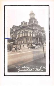 Zanesville Ohio Court House Real Photo Antique Postcard K53262