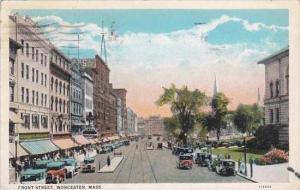 Massachusetts Worcester Front Street 1928