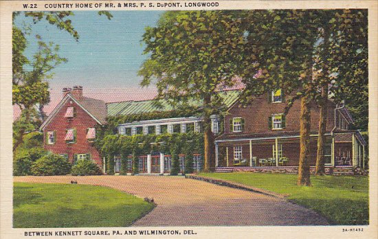 Delaware Wilmington Country Home Of Mr and Mrs P S Dupont Curteich