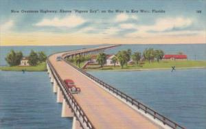 Florida New Overseas Highway Above Pigeon Key On Way To Key West 1949