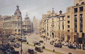 Spain Madrid Calle Alcala y Avenida Jose Antonio