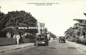 curacao, N.W.I., WILLEMSTAD, De Ruyter Boulevard, Cars (1940s) Kropp 10198