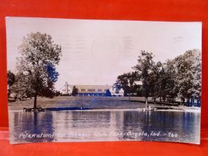 Postcard IN Angola Pokagon State Park Potawatomi Inn RPPC Real Photo