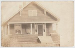 pre1918 COLDWATER Ohio Real Photo RPPC Postcard Celina Mercer County Home