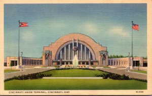 Ohio Cincinnati Union Terminal 1941 Curteich