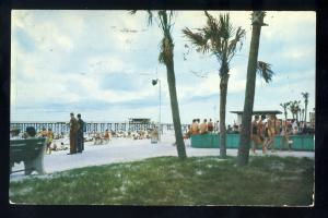 Pensacola, Florida/FL Postcard, Evening At Pensacola Beach, 1960!