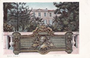 SAN REMO , Italy , 1901-07 ; Villa Zirio