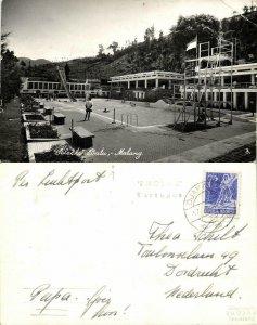 indonesia, JAVA MALANG, Selecta Batu, Swimming Pool (1955) RPPC Postcard