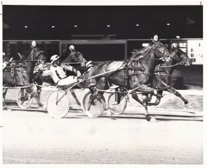 MAYWOOD PARK, Harness Horse Race, BID TO FAME wins