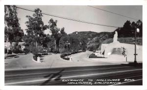 Entrance to Hollywood Bowl, Hollywood, California, Early Postcard, Unused