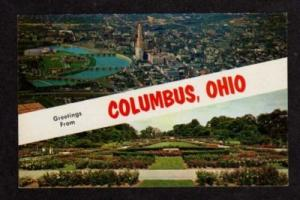 OH Greetings from COLUMBUS OHIO Postcard PC Multi View