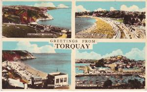 Post Card Devon Torquay Greetings from 4 views