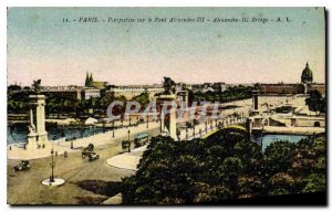 Old Postcard Perspective Paris on the Pont Alexandre III