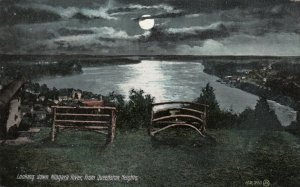 TORONTO, Ontario, PU-1908; Looking Down Niagara River From Queenston Heights