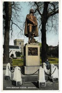 postcard, Bedfordshire, Bedford JOHN BUNYAN STATUE Dennis Productions B.3604 New