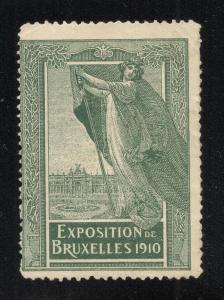 1910 International Expo.(Worlds Fair) Brussels - Label