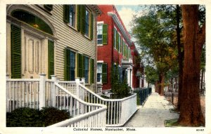 Nantucket, Massachusetts - A view of Colonial Homes in the City - in 1940