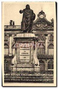 Old Postcard Nancy Fronton L & # 39Hotel City Statue Lanislas