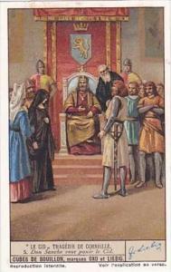 Liebig Vintage Trade Card S1337 El Cid 1936 No 5 Don Sanche veut punir le Cid