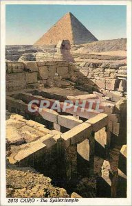 Postcard Old Cairo The Sphinx Temple