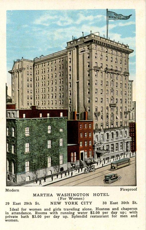 NY - New York City. Martha Washington Hotel for Women