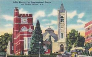New Hampshire Nashua Public Library First Congregational Church And Tavern