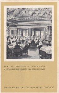 CHICAGO, Illinois , 1930s ; Marshall Field Company , Men's Grill