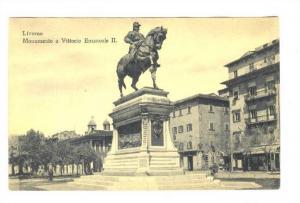 LIVORNO , Italy , 00-10s ; Monumento a Vittorio Emanuele II