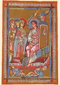Ostermorgen die Frauen am Grab Perikopenbuch aus St. Erentrud