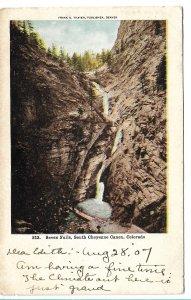 Colorado Springs, CO - Seven Falls, South Cheyenne Canyon - 1907