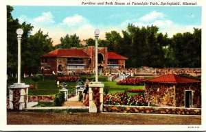 Missouri Springfield Fassnight Park Pavilion and Bath House Curteich