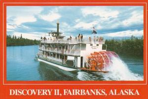 Alaska Fairbanks Riverboat Discovery II Cruising On The Chena &am...