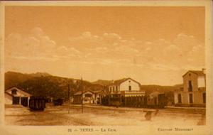 1910 Algeria Postcard, Train at Tenes Railroad Station, Edition Monneret