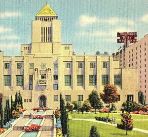 1944 The Public Library Los Angeles California Postcard Standard View Card